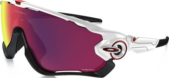 Oakley Jawbreaker Polished White Prizm Race Fietsbril
