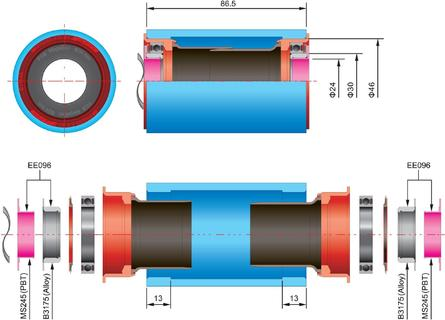 FSA FSA Bottom Bracket Adapter BB30 naar Hollowtech ii (24mm)