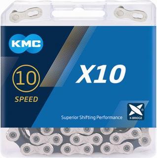 KMC X10 Silver/Black 10-speed Ketting