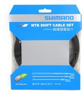 Shimano MTB Optislick Derailleur Kabelset Zwart