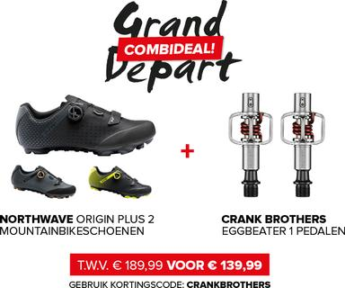Crank Brothers Eggbeater 1 Pedalen Zilver/Rood