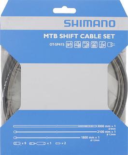 Shimano MTB RVS Derailleur Kabelset Zwart