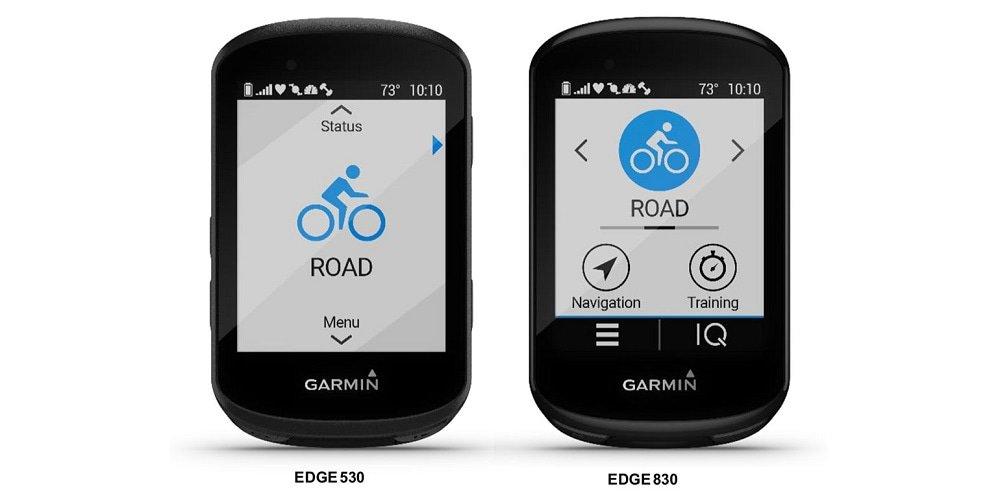 Garmin Edge 530 en Edge 830
