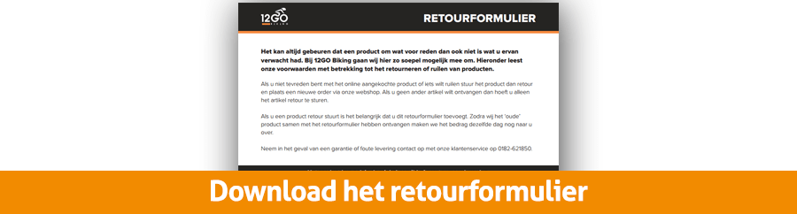 Download het retourformulier