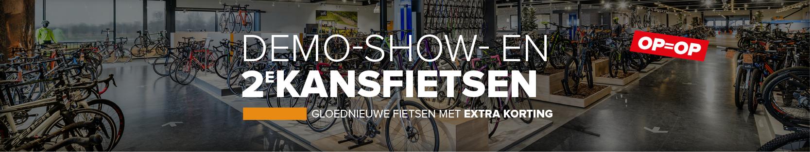 Demofietsen, showfietsen en tweedekans fietsen