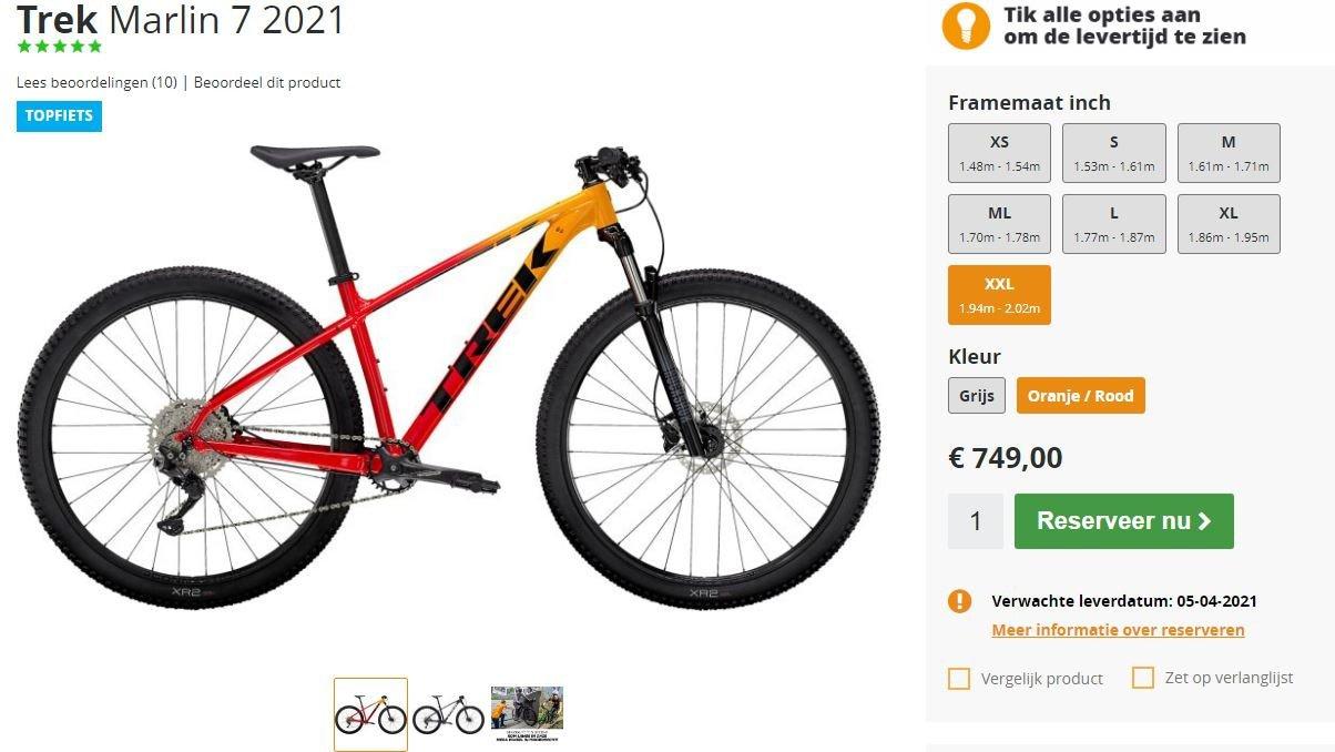 Reserveer je mountainbike