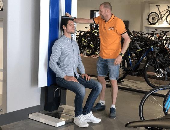 Statische Bikefit